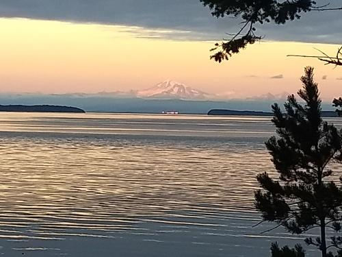 Mount Baker over Haro Strait