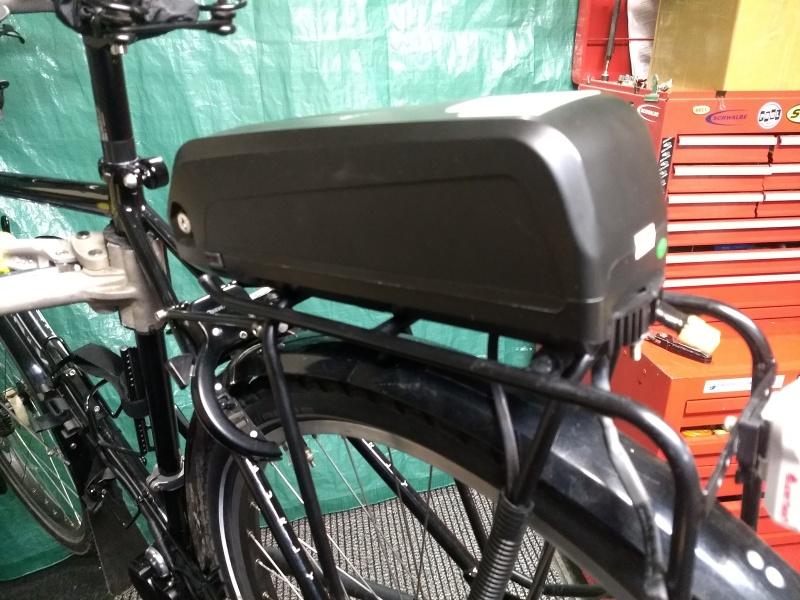 Battery Mounted on Rear Rack